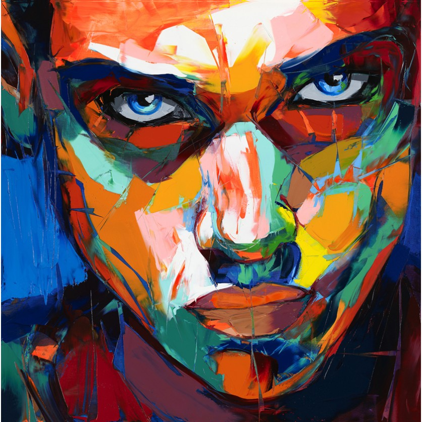 Portrait peinture contemporaine bt64 jornalagora for Tableau art contemporain