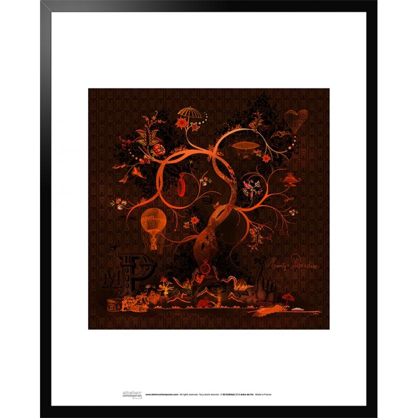tableau d 39 art contemporain arbre de vie de ds kamala. Black Bedroom Furniture Sets. Home Design Ideas