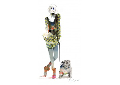 LONDON GIRL & DOG