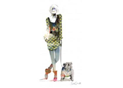 LONDON GIRL & DOG