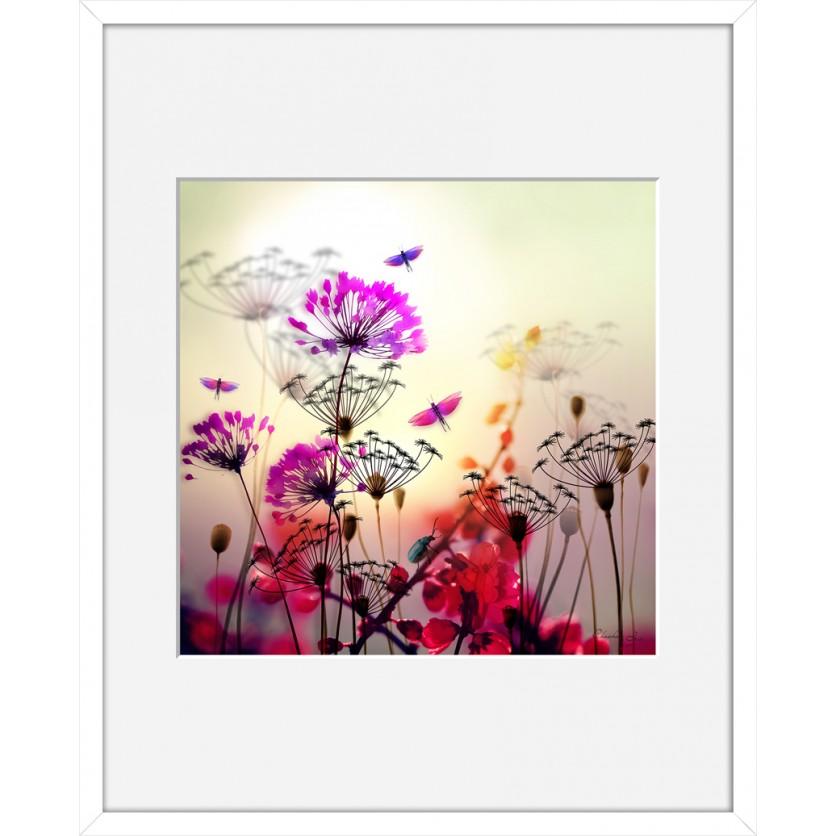 tableau d 39 art contemporain flower de chacha by iris pour une d coration design. Black Bedroom Furniture Sets. Home Design Ideas