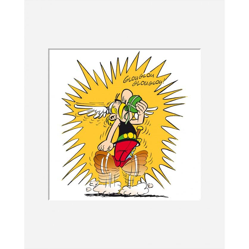 Tableau d 39 art contemporain glouglou de uderzo pour for Tableau art contemporain design decoration