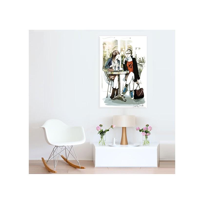 tableau d 39 art contemporain parisiennes de griotto pour une d coration design. Black Bedroom Furniture Sets. Home Design Ideas