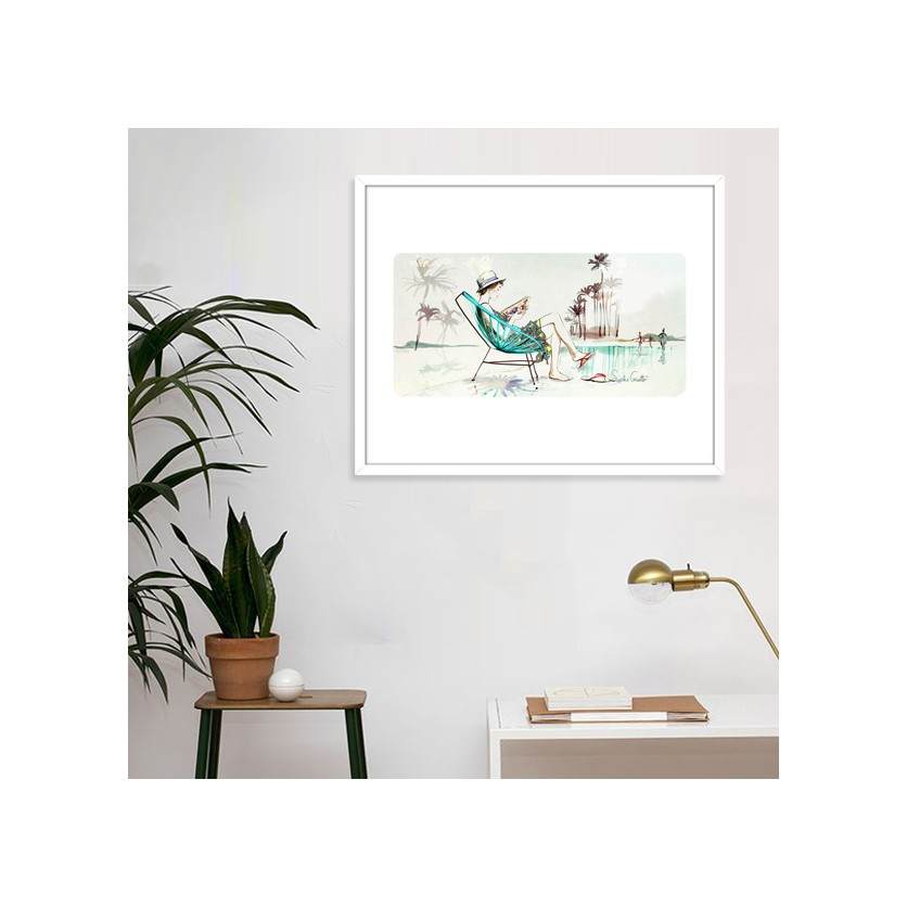 Tableau d 39 art contemporain summer de griotto pour for Tableau art contemporain design decoration