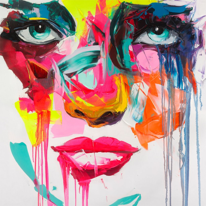 Tableau d 39 art contemporain paola de nielly pour une for Tableau art contemporain design decoration