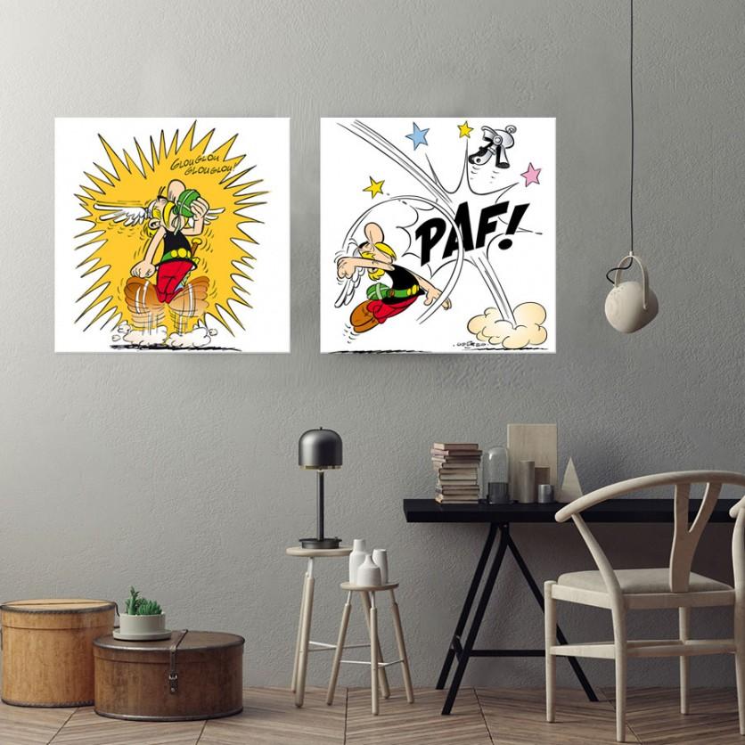 tableau d 39 art contemporain paf asterix de uderzo pour une d coration design. Black Bedroom Furniture Sets. Home Design Ideas