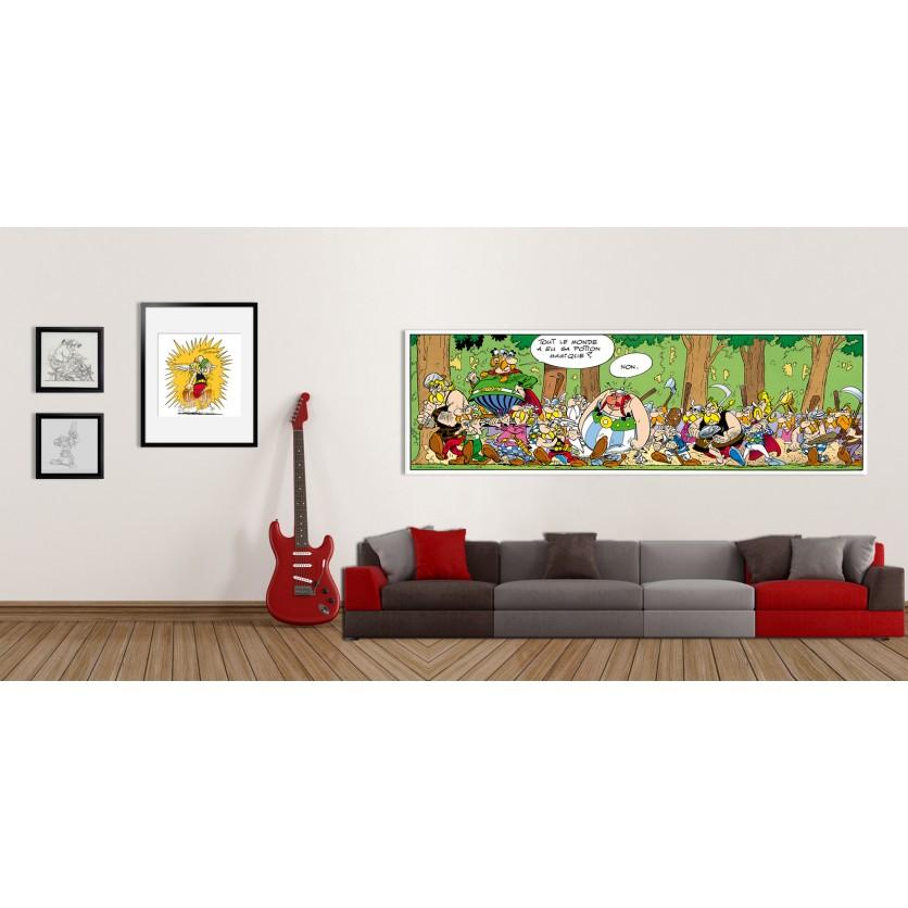 tableau d 39 art contemporain non de uderzo pour une d coration design. Black Bedroom Furniture Sets. Home Design Ideas